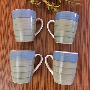 Pier 1 Imports Hand Painted Stoneware Mugs